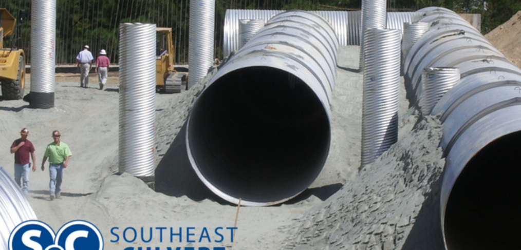 Large Diameter Corrugated Metal Pipe Underground Detention