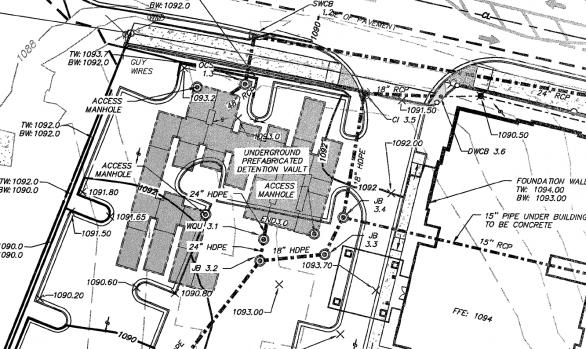120 Inch Diameter CMP Detention - Brickmont Assisted Living